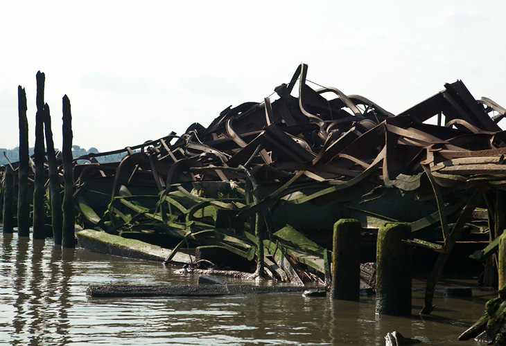 The Collapsed Piers of Riverside Park South